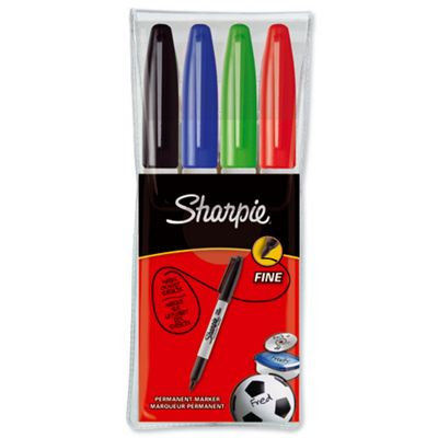 Sharpie 08 Permanent Marker Fine Assorted Pack of 4 S0810970