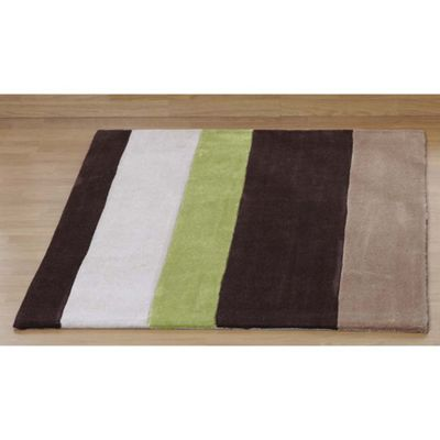 Ultimate Rug Co Aspire Madeire Chocolate / Green Contemporary Rug - 120cm x 170cm