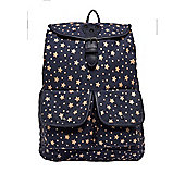 F&F Star Print Canvas Backpack