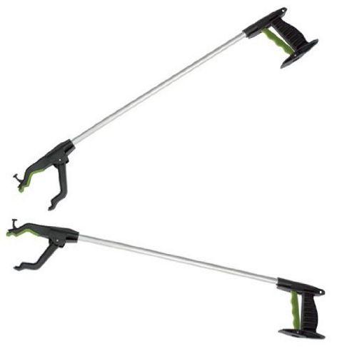 Set of 2 Strong Litter Picker, Pick Up & Reaching Tools by Gardman