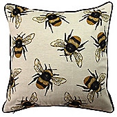 McAlister Printed Bumblebees Cushion - Woven Jacquard