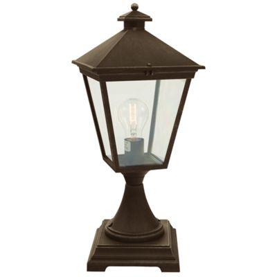 Black/Gold Pedestal - 1 x 100W E27