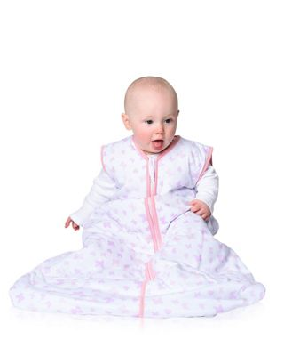 Snoozebag Baby Sleeping Bag - Butterflies & Hearts (2.5 tog, 0-6 months)