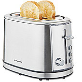 Andrew James Argentum Toaster with Warming Rack in Silver