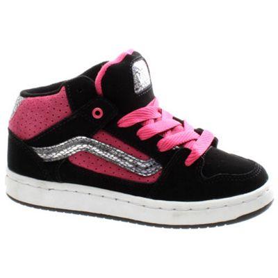 Vans Kaylyn Mid Kids Black/Pink/White Shoe INMBP8