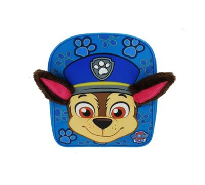 Paw Patrol 'Chase' Plush Ears School Bag Rucksack Backpack