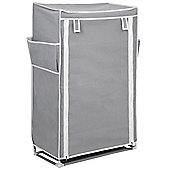 Hide - 5 Tier Shoe / Boot Storage Rack With Cover - Grey / White