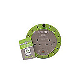 Pifco 5m 2 Gang Extension Lead Cable Reel