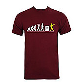 Zombie Evolution Burgundy Men's T-shirt - Burgundy