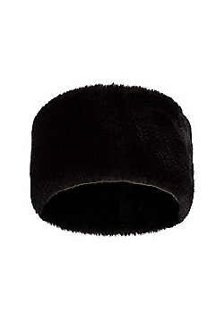 Mountain Warehouse Luxury Headband Faux Fur and Keeps Ears and Forehead Warm - Black