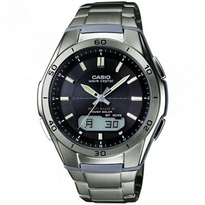 Casio Waveceptor Mens Stainless Steel Alarms Calendar Watch WVA-M640TD-1AER