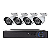electriQ 4 Channel HD 1080p Digital Video Recorder with 4 x 1080p Bullet Cameras & 2TB Hard Drive