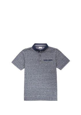 F&F Striped Marl Polo Shirt Indigo 5-6 years
