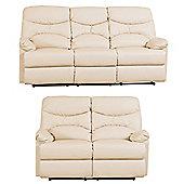 Sofa Collection Lucien 3+2 Recliner Sofa Set - Cream