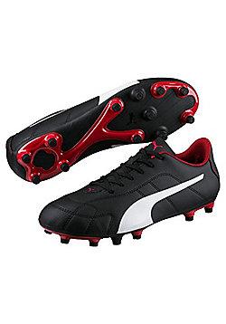 Puma Classico FG Adult Football Boots - Black / White / Red - Sizes UK 6 - UK 12 - Black