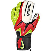 Reusch Waorani Pro SG ESS Goalkeeper Goalie Glove Red/ Lime - Red