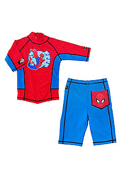 Ultimate Spiderman UV Shirt and Shorts 7 to 8 Years