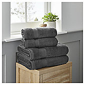 Fox & Ivy 4 Piece Egyptian Cotton Charcoal Towel Bale