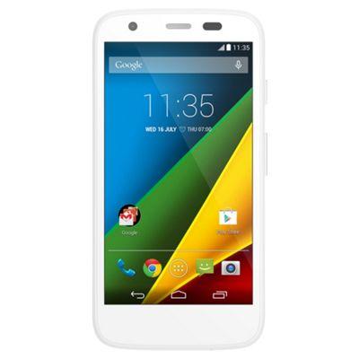 """Tesco Mobile Motorola Moto G""""™ + 4G White"""