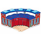 Deluxe Round House Engine Shed 5 Trains Wooden Railway 62055 - Brio Compatible