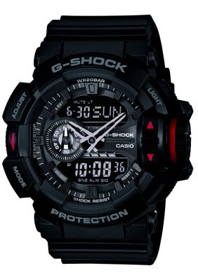 Casio G-Shock Mens Black World Time Stopwatch Watch GA-400-1BER