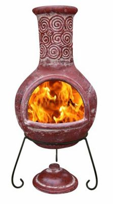 Extra large Espiral Red Chimenea