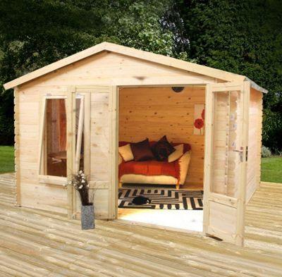 Mercia Studio Wooden Log Cabin, 8x11ft