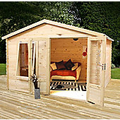 Mercia 2.6m x 3.3m Studio Log Cabin