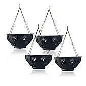 Set of 4 Easy Fill Hanging Baskets (36cm) by Selections