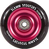 Slamm Black/Pink Anodised Metal Core Scooter Wheel and Bearings