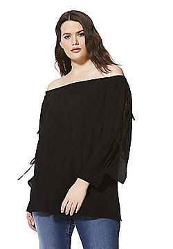 Lovedrobe Bardot Plus Size Top - Black