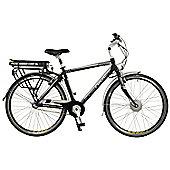 Dynamo Mens Aluminium Electric Hybrid City Bike, Black