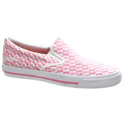 Draven Misfits Fiend Slip on Pink/White Checker Shoe
