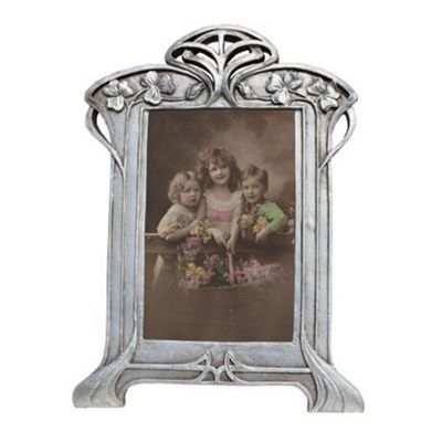 Silver Gilt Leaf Portrait Photo Frame Height: 38cm