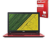 """Certified Refurbished Acer Aspire 3 A315-51 15.6"""" Laptop Intel Core i3-6006U 4GB 1TB Win 10 - Red with Internet Security"""
