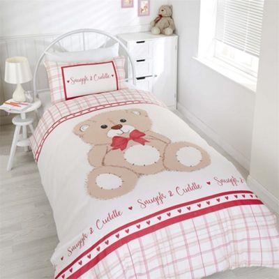 Rapport Snuggle & Cuddle Red Duvet Cover Set - Toddler