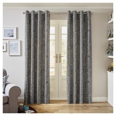 Tesco Florence Curtains - Grey - 66x54