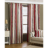 Broadway Raspberry Eyelet Curtains, 229x229cm