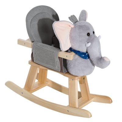 Homcom Animal Rocking Ride on Toy Chair for Kids (Elephant)
