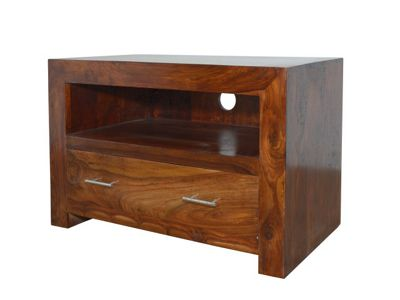 Montana Dark Sheesham Square TV Unit