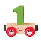 Bigjigs Rail Rail Name Number 1 (Green)