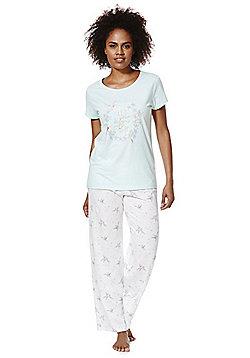 F&F Hummingbird Print Pyjamas - Green