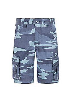 Mountain Warehouse CAMO CARGO KIDS SHORTS - Blue