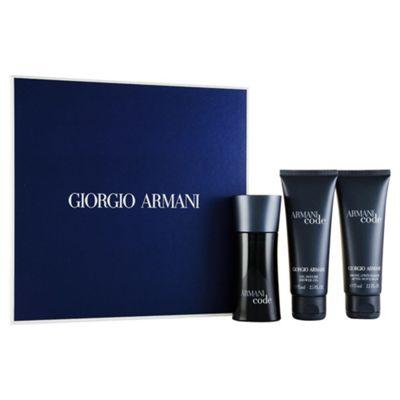 Giorgio Armani Code Eau de Toilette 50ml, Shower Gel 75ml & 75ml aftershave balm