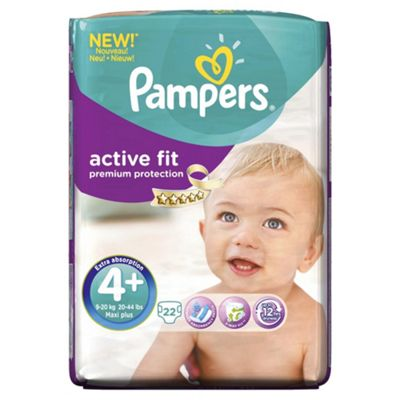 Pampers Active Fit Size 4+ Carry Pack - 22 nappies