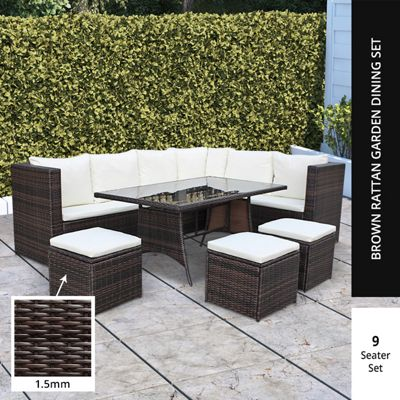 BillyOh Modica 9 Seater Outdoor Rattan Corner Sofa Set