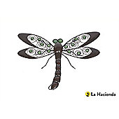 La Hacienda Decorative Wirework Dragonfly Wall Art