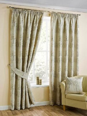Oakley Pencil Pleat Curtains, Natural 168x229cm