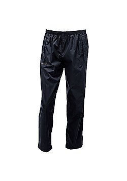 Regatta Mens Pack It Waterproof Overtrousers - Black