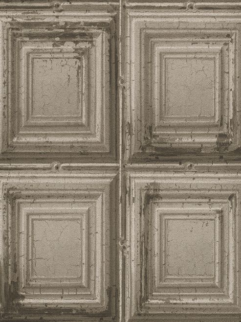 Rasch Distressed Wood Panels Wallpaper Grey 932607